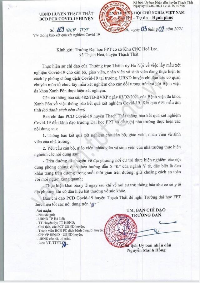 Hà Nội: Gỡ phong tỏa Đại học FPT - 2