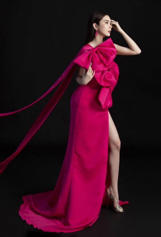 Hoa hậu Huỳnh Vy diện váy sắc màu rực rỡ - 5