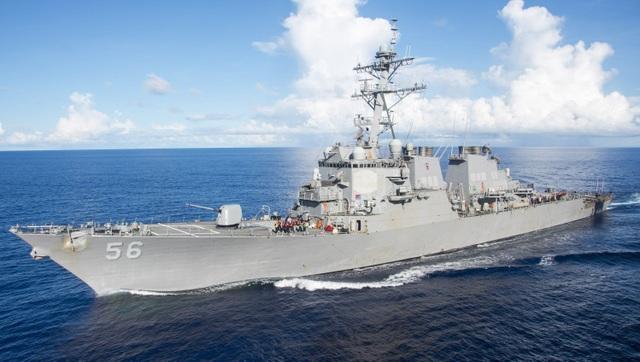 Mỹ lần đầu tiên đưa tàu chiến qua eo biển Đài Loan thời ông Biden - 1