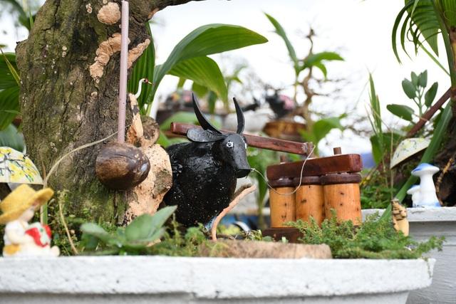Độc đáo bonsai dừa hình trâu thu hút khách Tết Tân Sửu - 5