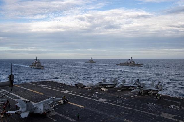 Hai nhóm tác chiến tàu sân bay Mỹ tập trận ở Biển Đông - 3