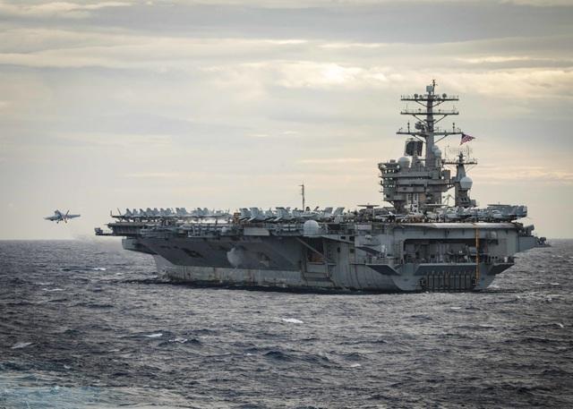 Hai nhóm tác chiến tàu sân bay Mỹ tập trận ở Biển Đông - 6