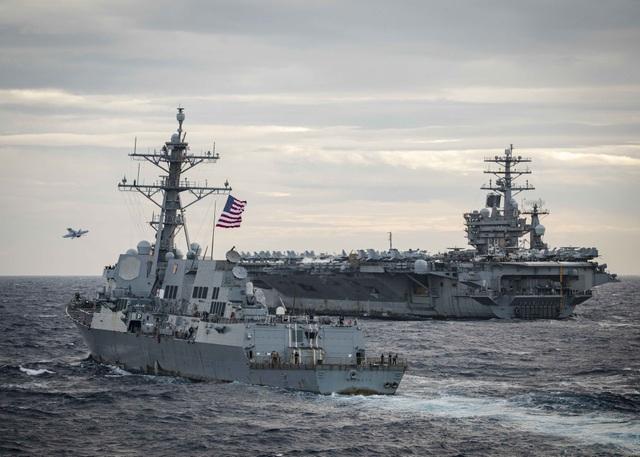 Hai nhóm tác chiến tàu sân bay Mỹ tập trận ở Biển Đông - 8