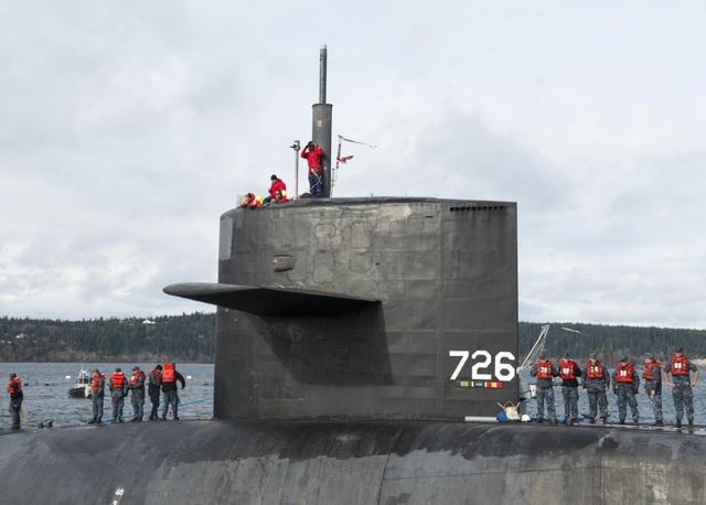 Siêu tàu ngầm Mỹ mang 154 tên lửa sứ giả chiến tranh dưới lòng đại dương - 1