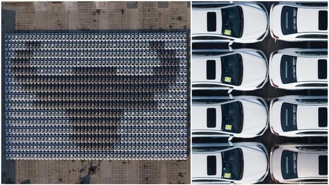 Kỷ lục xếp ô tô tạo hình đầu trâu khổng lồ mừng Tết Nguyên đán - 1