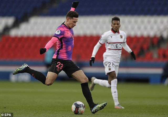 Đánh bại Nice, PSG trở lại ngôi đầu bảng Ligue 1 - 1