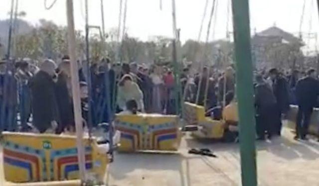 Đu quay bất ngờ sập ở hội chợ tết khiến 16 người bị thương - 2