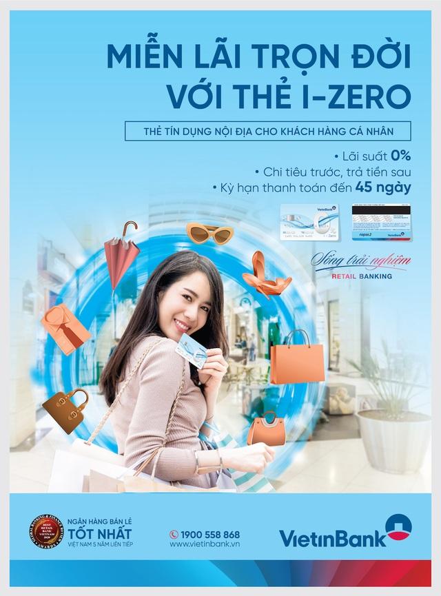 Miễn lãi trọn đời với thẻ trả góp VietinBank i-Zero - 1