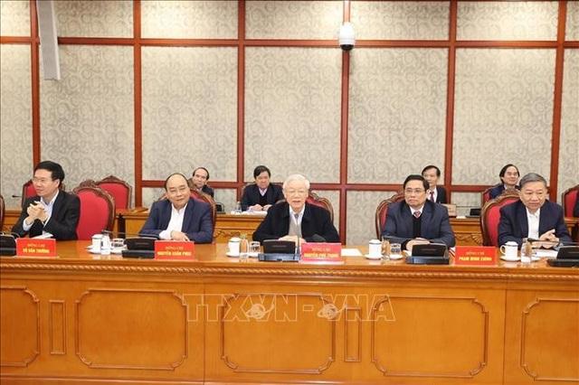 Tổng Bí thư chủ trì phiên họp đầu tiên của Bộ Chính trị khóa XIII - 1