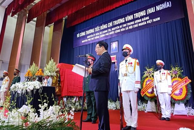Lễ truy điệu và an táng nguyên Phó Thủ tướng Trương Vĩnh Trọng - 3