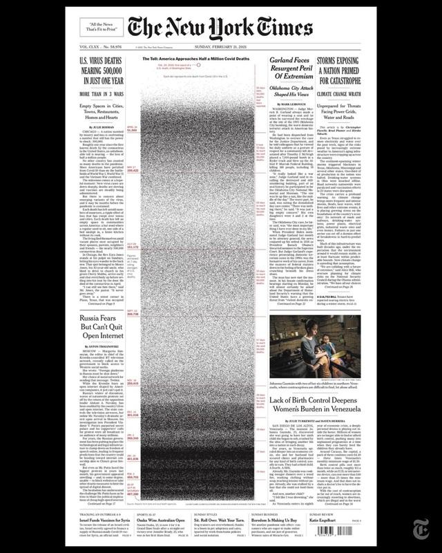 Trang nhất gần 500.000 chấm đen gây sốc của báo Mỹ New York Times - 1
