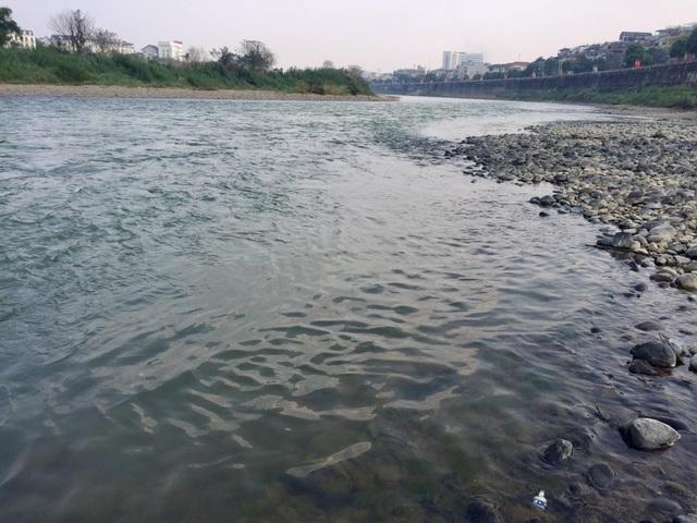 Nước sông Hồng bất ngờ đổi màu trong xanh như ngọc - 3