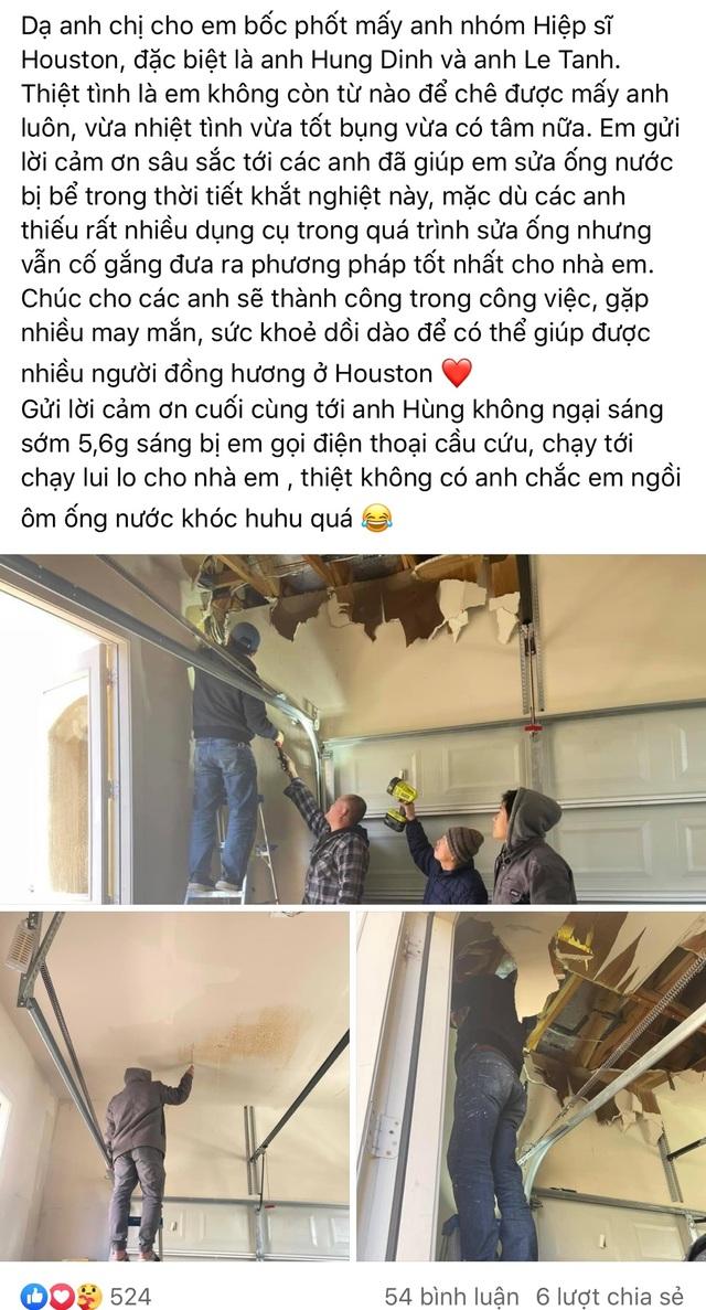 Người Việt giải cứu ống nước bị bể do bão tuyết cho cư dân Houston, Texas - 8