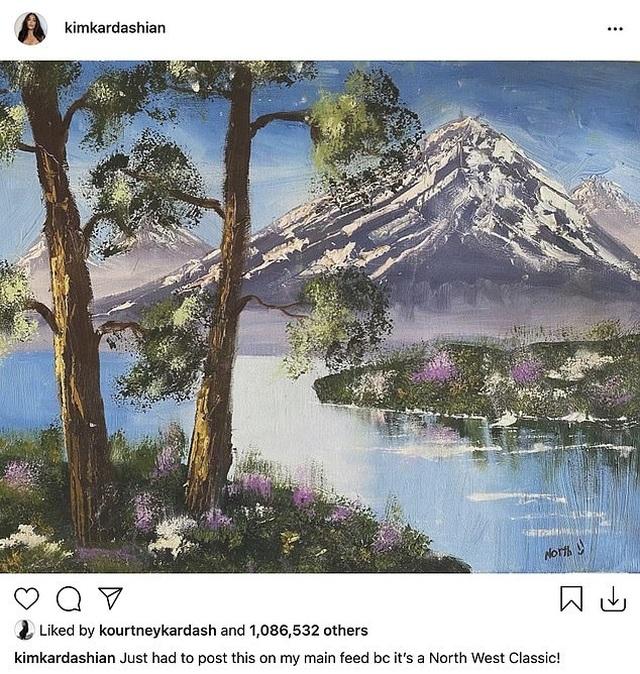Kim Kardashian bị chỉ trích khi khoe tranh con vẽ - 1