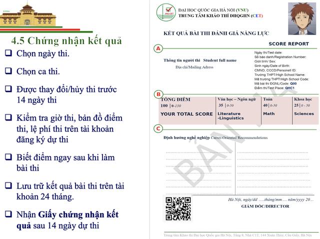 Thông tin mới nhất về Bài thi đánh giá năng lực vào Đại học Quốc gia Hà Nội - 8