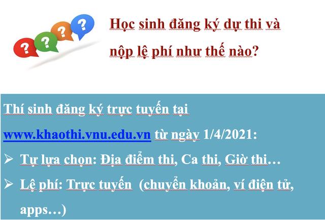 Thông tin mới nhất về Bài thi đánh giá năng lực vào Đại học Quốc gia Hà Nội - 12