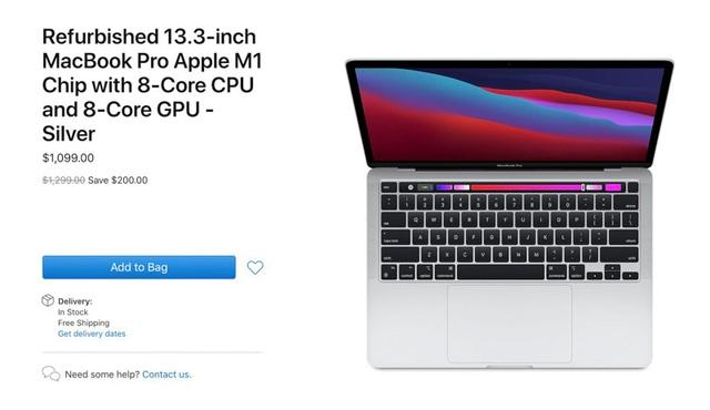 Apple mở bán MacBook Pro tân trang sử dụng chip M1 với giá rẻ - 1