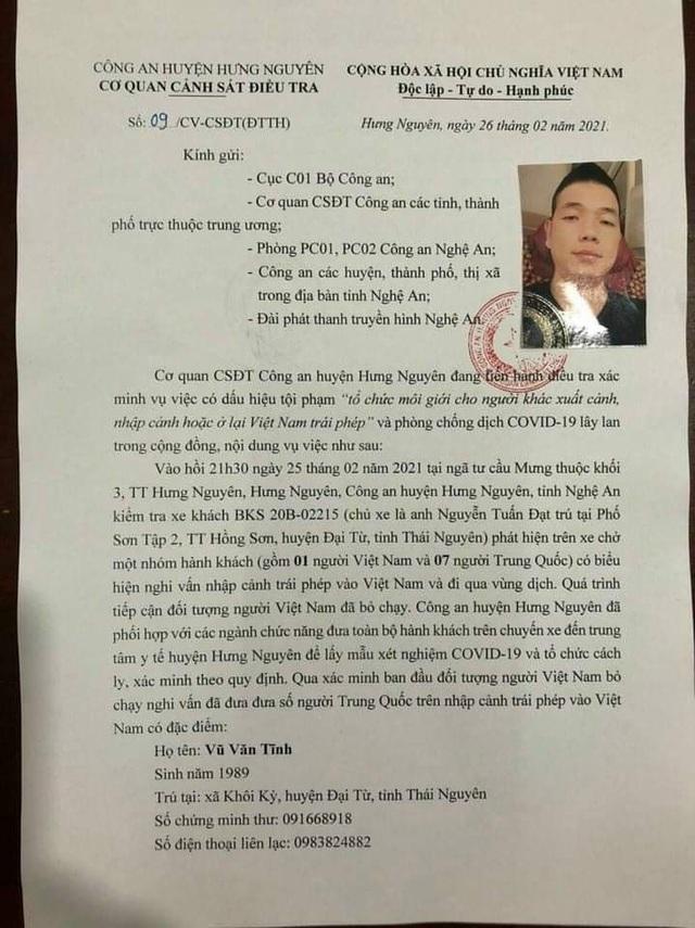 Truy tìm đối tượng đưa 7 người Trung Quốc nhập cảnh trái phép vào Việt Nam - 2