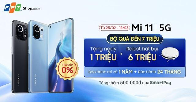 FPT Shop tặng ưu đãi đến 7,5 triệu đồng khi đặt trước Xiaomi Mi 11 5G - 1