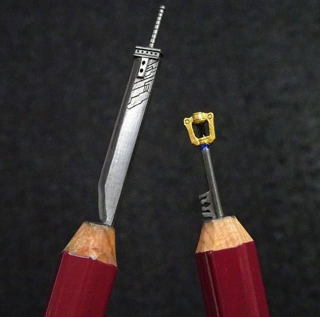 Những tác phẩm điêu khắc nhỏ xíu trên ruột bút chì - 6