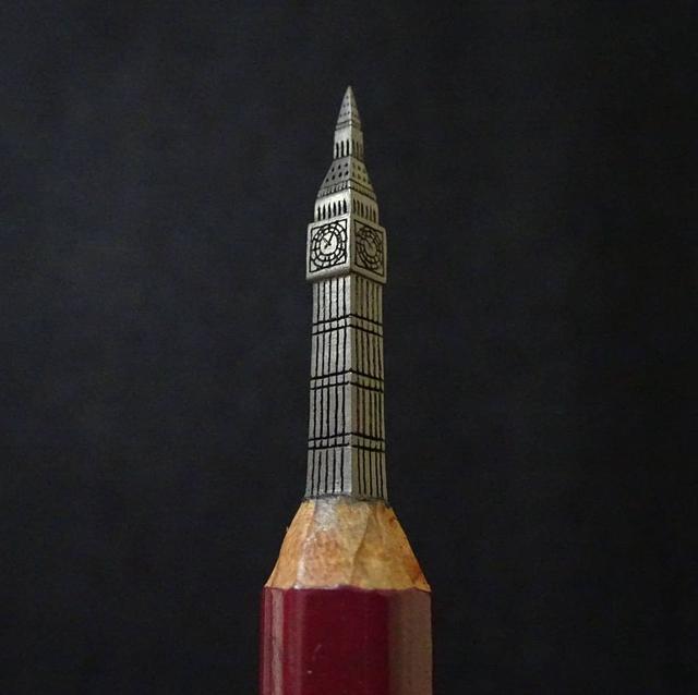 Những tác phẩm điêu khắc nhỏ xíu trên ruột bút chì - 5