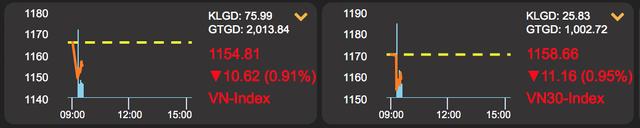 Chứng khoán lao dốc mất 16 điểm đầu phiên, nhà đầu tư ngơ ngác - 1