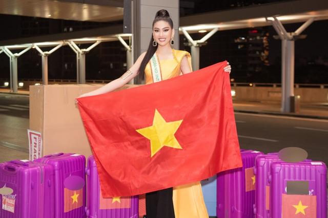 Phải cách ly, Ngọc Thảo mang 150kg hành lý sang Thái Lan dự thi - 8