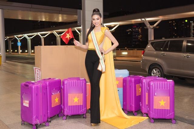 Phải cách ly, Ngọc Thảo mang 150kg hành lý sang Thái Lan dự thi - 6