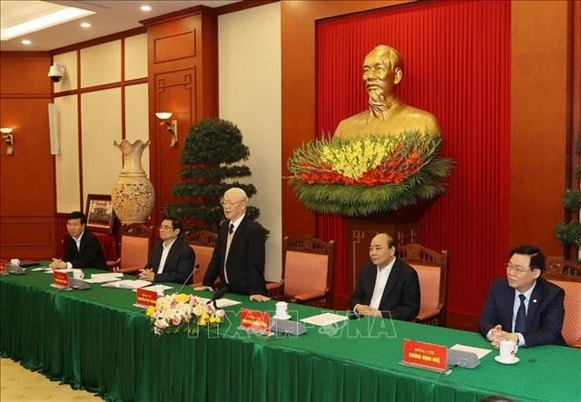 Bộ Chính trị gặp mặt các nguyên Ủy viên Bộ Chính trị, Ban Bí thư - 3