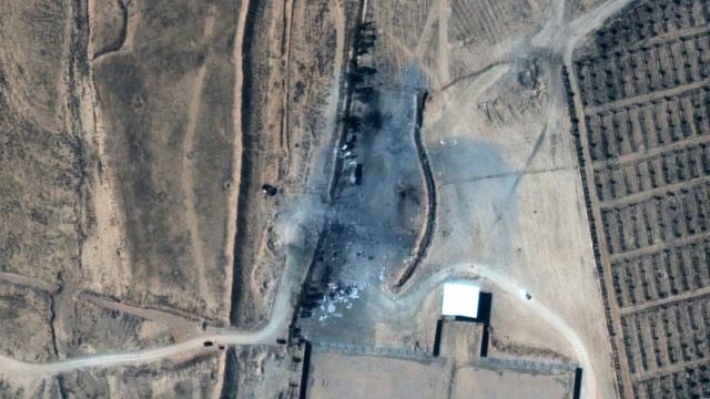 Ảnh vệ tinh lộ mức công phá của cuộc không kích đầu tiên dưới thời Biden - 1