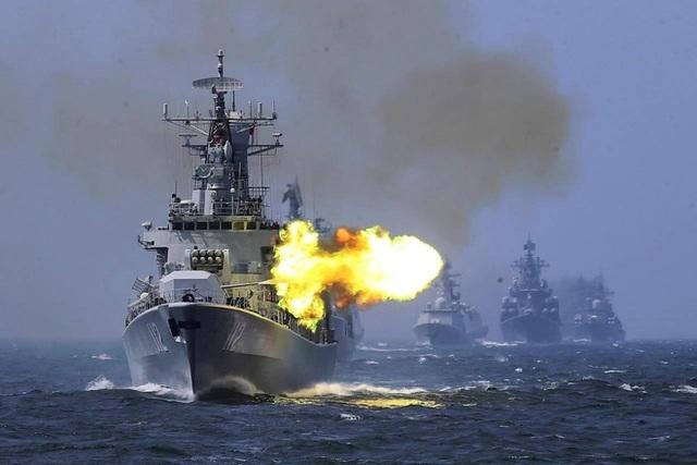 Trung Quốc tập trận bắn đạn thật giữa lúc tàu Mỹ tuần tra Biển Đông - 1