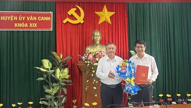 Điều động Phó Bí thư Tỉnh đoàn làm Phó Bí thư Huyện ủy Vân Canh - 1