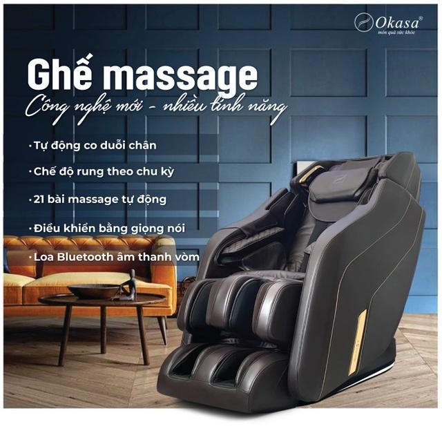 Ghế massage cao cấp Okasa - Giải pháp sức khỏe cho người yêu công nghệ - 2