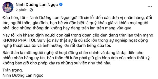 Ninh Dương Lan Ngọc chính thức lên tiếng về nghi vấn lộ clip nóng