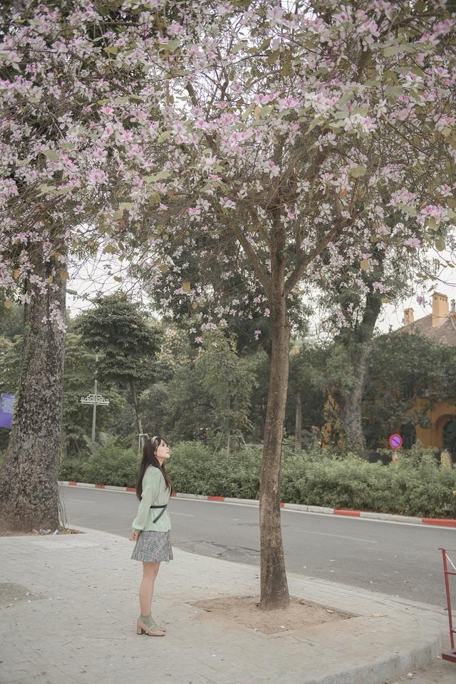 Nữ bác sĩ 9X xinh đẹp thả hồn lãng mạn với hoa ban tháng 3 - 11