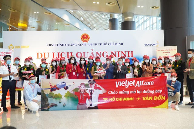 Sân bay Vân Đồn mở cửa trở lại đón chuyến bay Vietjet đầu tiên - 5