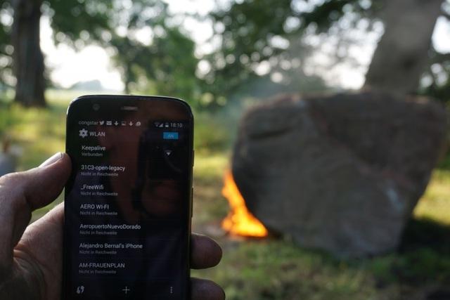 Kỳ lạ tảng đá bị đốt nóng lại phát sóng wifi - 2