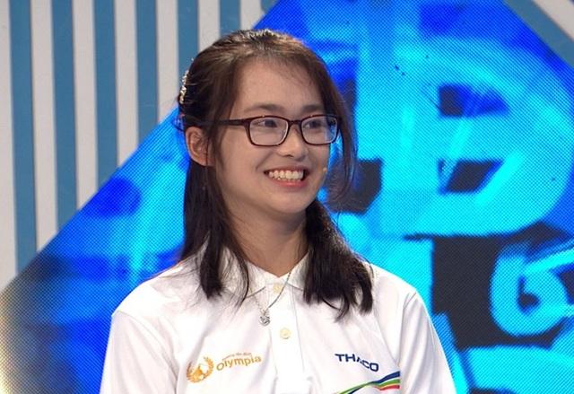 Nữ sinh cùng trường với Siêu trí tuệ Hà Việt Hoàng gây sốt Olympia - 1