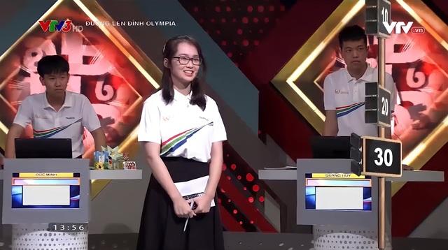 Nữ sinh cùng trường với Siêu trí tuệ Hà Việt Hoàng gây sốt Olympia - 4