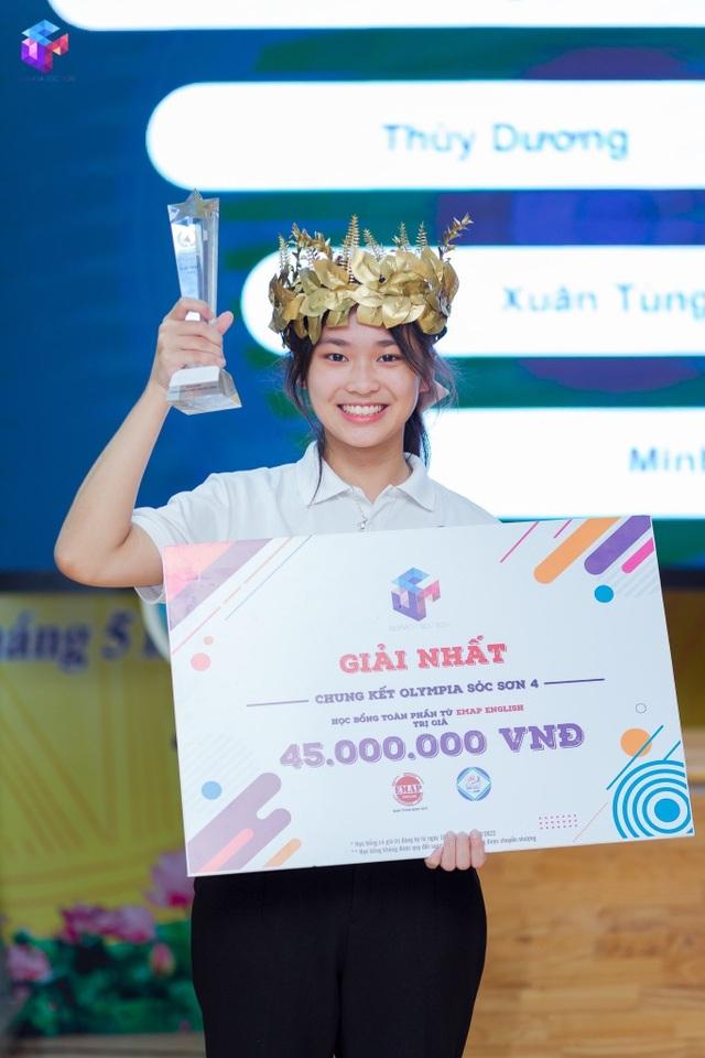 Nữ sinh cùng trường với Siêu trí tuệ Hà Việt Hoàng gây sốt Olympia - 5