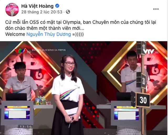 Nữ sinh cùng trường với Siêu trí tuệ Hà Việt Hoàng gây sốt Olympia - 2