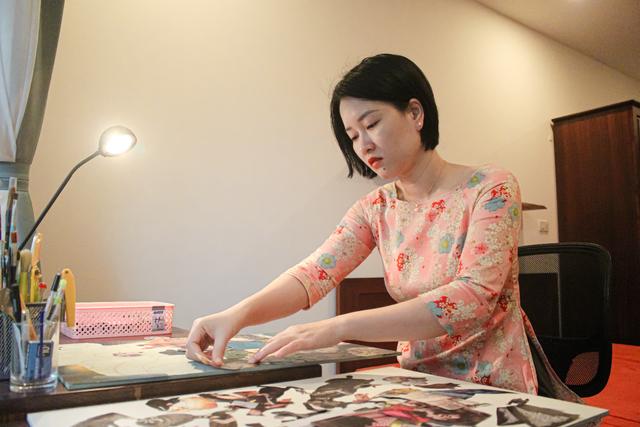 Người phụ nữ truyền cảm hứng qua những bức tranh làm từ giấy vụn - 2