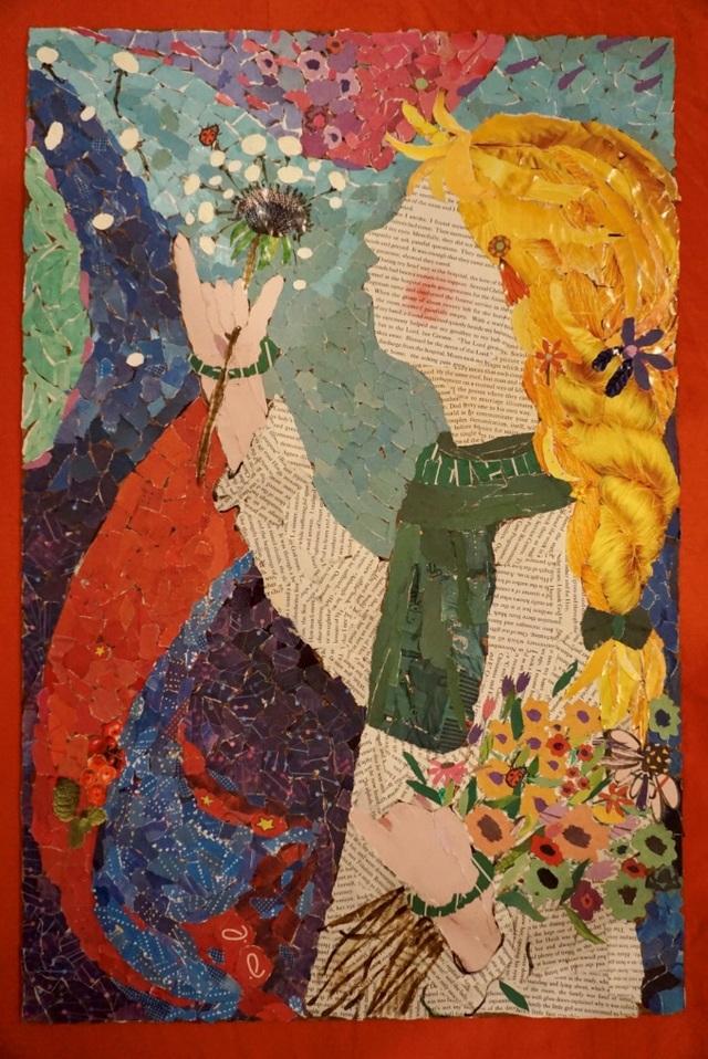 Người phụ nữ truyền cảm hứng qua những bức tranh làm từ giấy vụn - 4