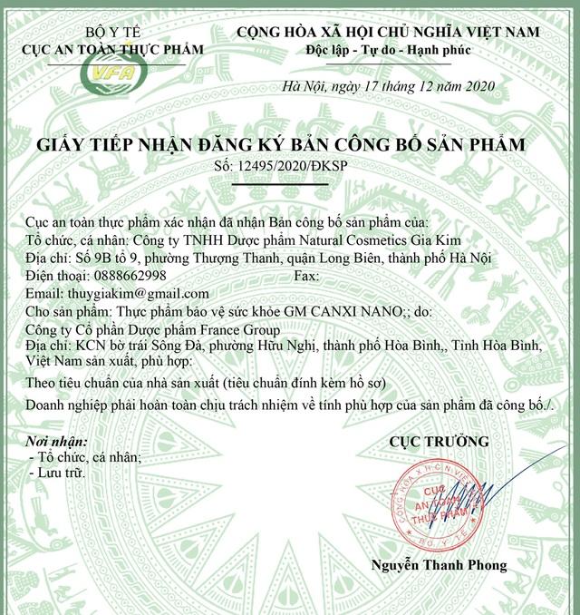 Đột phá hỗ trợ phát triển chiều cao của GM Canxi Nano - 2