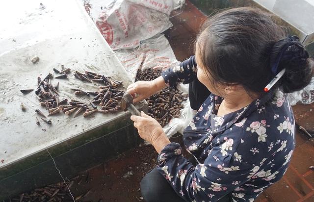 Nhọc nhằn đập trôn ốc, người phụ nữ kiếm bạc lẻ mỗi ngày - 4