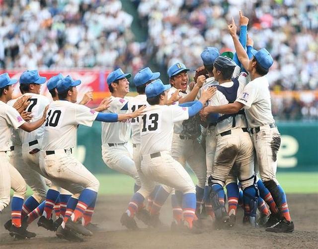 Hình ảnh tại Giải vô địch bóng chày trung học quốc gia Nhật Bản. Ảnh: Nippon