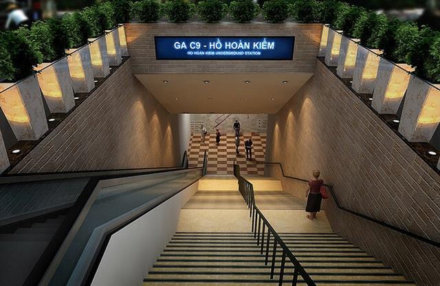 Metro số 2: Bỏ ga ngầm C9 cạnh Hồ Gươm, lượng hành khách giảm tới 95% - 1