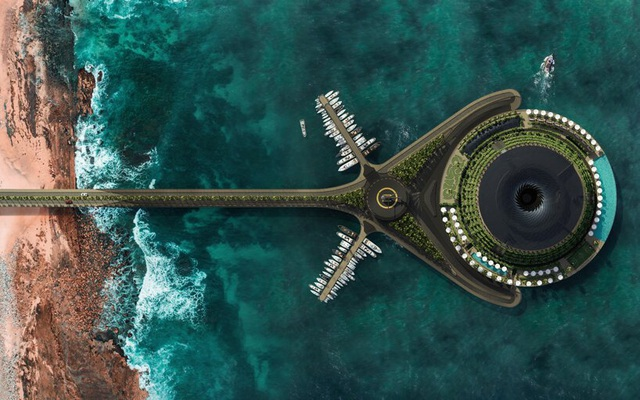 Khách sạn ốc đảo giữa lòng biển khơi tự xoay tròn trong 24 giờ - 1