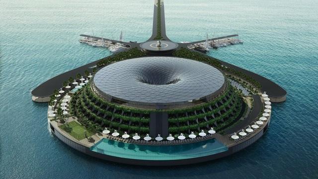 Khách sạn ốc đảo giữa lòng biển khơi tự xoay tròn trong 24 giờ - 2