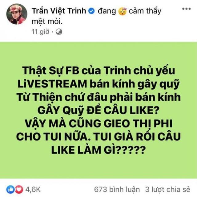 Diễn viên Việt Trinh bức xúc khi bị mỉa mai bán hàng từ thiện để câu view - 2